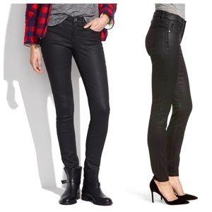"""Madewell 9"""" High Rise Skinny Jeans Black Coated"""